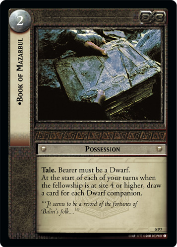 Book of Mazarbul (P) (0P7) Card Image