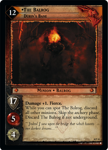 The Balrog, Durin's Bane (P) (0P10) Card Image