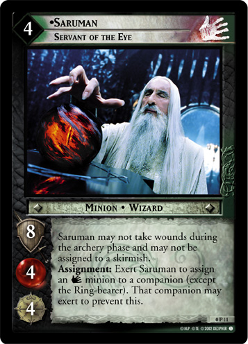 Saruman, Servant of the Eye (P) (0P11) Card Image