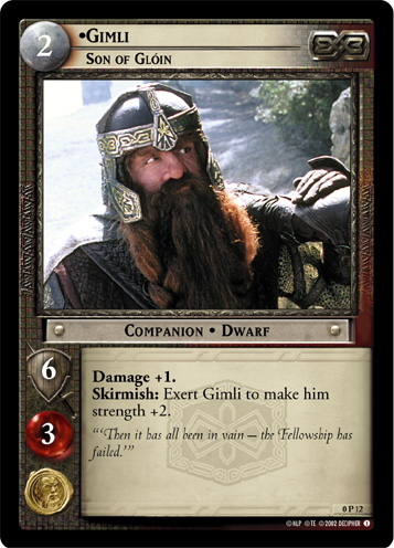 Gimli, Son of Gloin (P) (0P12) Card Image
