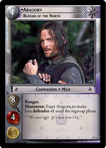 Aragorn, Ranger of the North (P) (0P14) Card Image