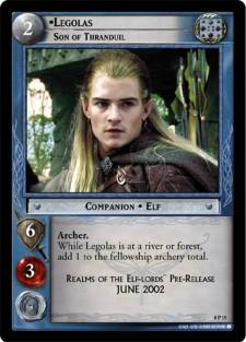 Promotional release of Legolas, Son of Thranduil