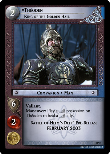 Theoden, King of the Golden Hall (P) (0P19) Card Image