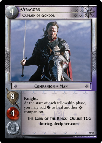 Aragorn, Captain of Gondor (P) (0P23) Card Image