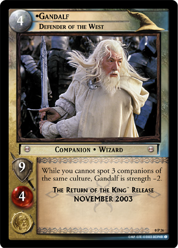 Gandalf, Defender of the West (P) (0P26) Card Image