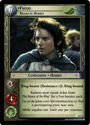 Frodo, Resolute Hobbit (P) (0P27) Card Image