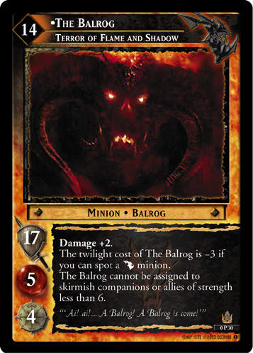 The Balrog, Terror of Flame and Shadow (P) (0P30) Card Image