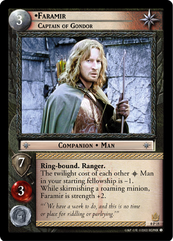 Faramir, Captain of Gondor (P) (0P35) Card Image