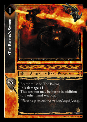The Balrog's Sword (P) (0P42) Card Image