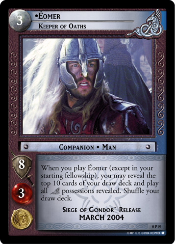 Eomer, Keeper of Oaths (P) (0P49) Card Image
