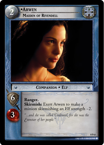 Arwen, Maiden of Rivendell (P) (0P63) Card Image