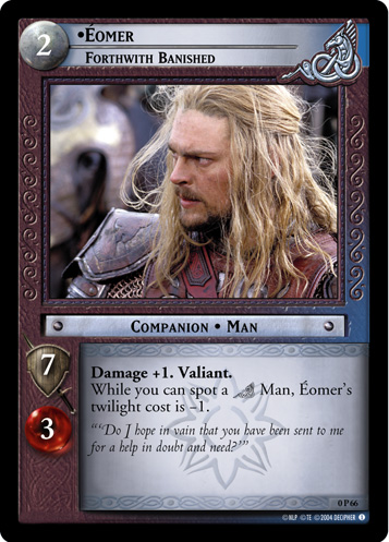 Eomer, Forthwith Banished (P) (0P66) Card Image