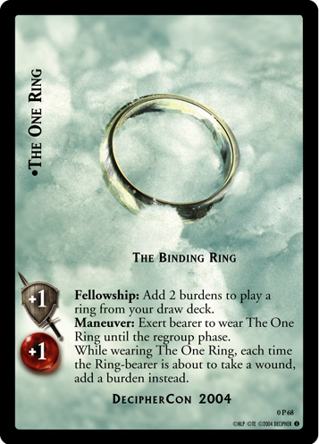 The One Ring, The Binding Ring (P) (0P68) Card Image