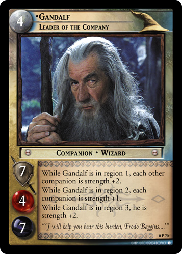 Gandalf, Leader of the Company (P) (0P70) Card Image