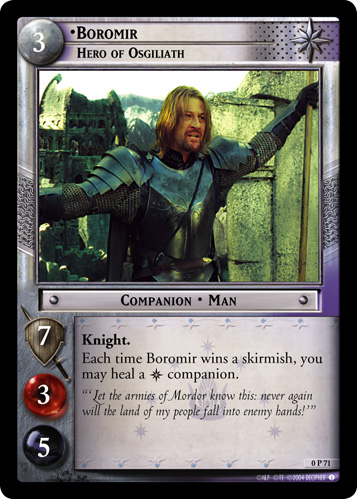 Boromir, Hero of Osgiliath (P) (0P71) Card Image