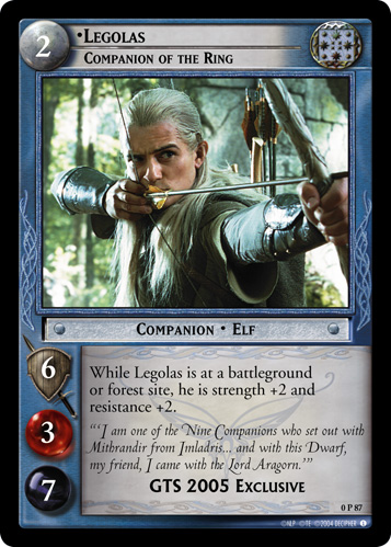 Legolas, Companion of the Ring (P) (0P87) Card Image