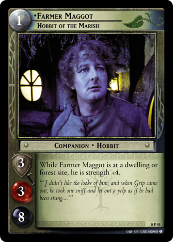Farmer Maggot, Hobbit of the Marish (P) (0P93) Card Image