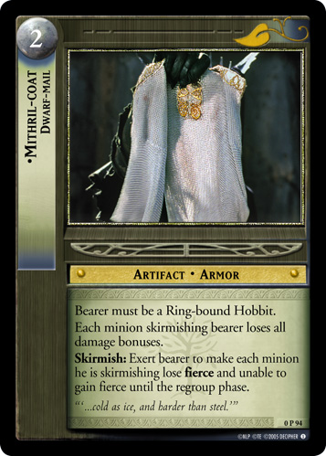 Mithril-coat, Dwarf-mail (P) (0P94) Card Image
