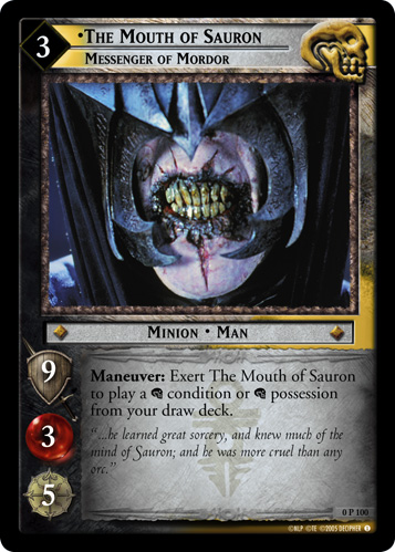 The Mouth of Sauron, Messenger of Mordor (P) (0P100) Card Image