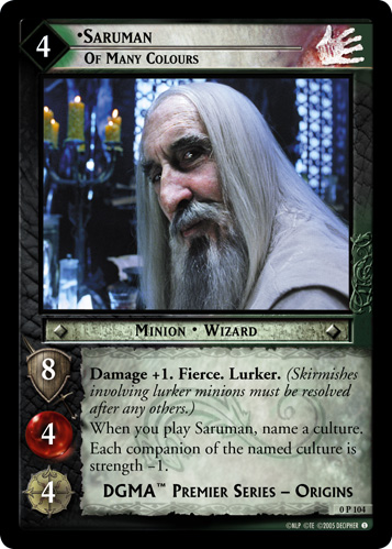 Saruman, Of Many Colours (P) (0P104) Card Image