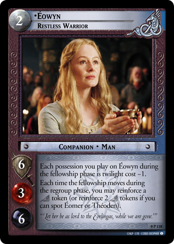 Eowyn, Restless Warrior (P) (0P118) Card Image