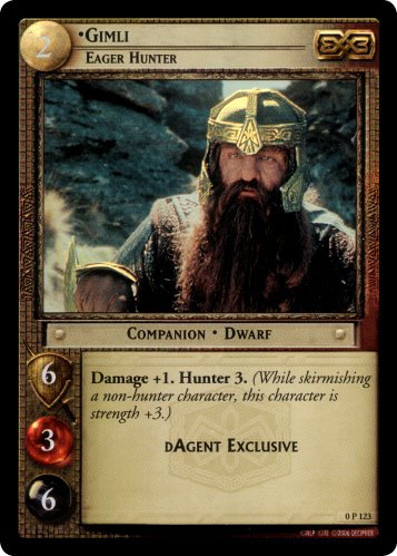 Gimli, Eager Hunter (P) (0P123) Card Image
