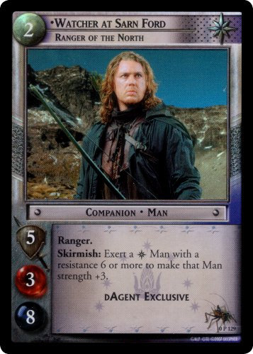 Watcher at Sarn Ford, Ranger of the North (P) (0P129) Card Image