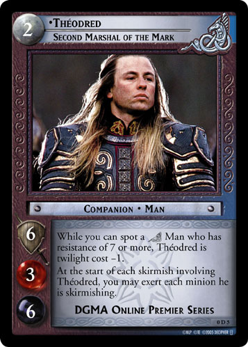 Theodred, Second Marshal of the Mark (D) (0D5) Card Image