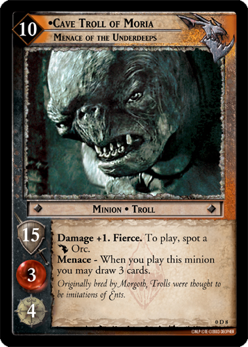 Cave Troll of Moria, Menace of the Underdeeps (D) (0D8) Card Image