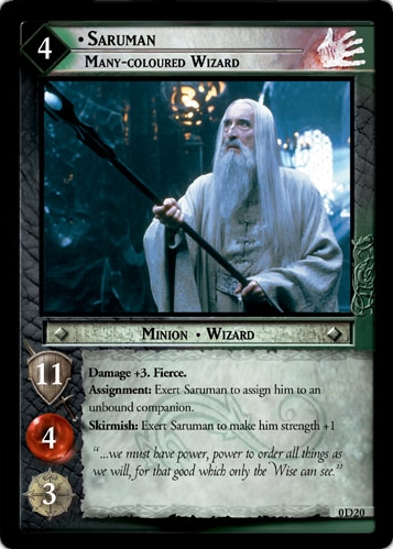 Saruman, Many-coloured Wizard (D) (0D20) Card Image