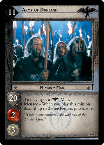 Army of Dunland (W) (0W1) Card Image