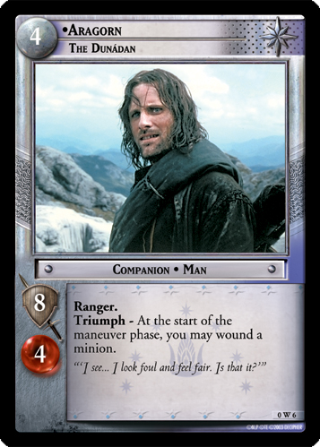Aragorn, The Dunadan (W) (0W6) Card Image