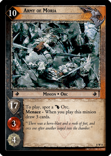Army of Moria (W) (0W8) Card Image