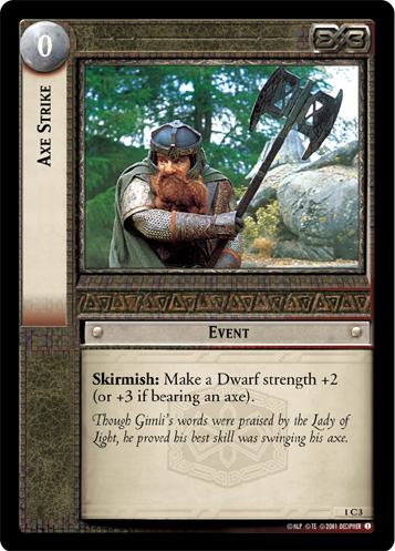 Axe Strike (1C3) Card Image