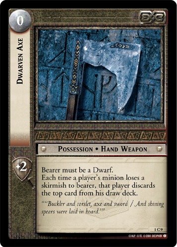 Dwarven Axe (1C9) Card Image