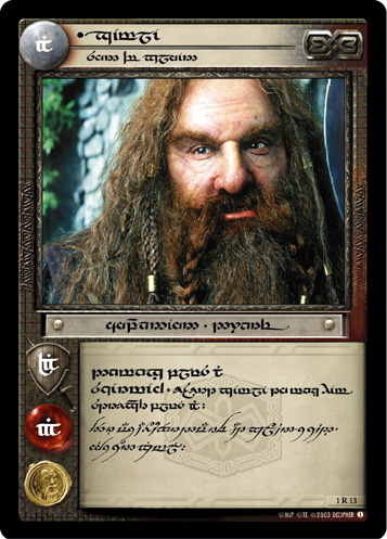 Gimli, Son of Gloin (T) (1R13T) Card Image