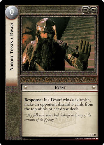Nobody Tosses a Dwarf (1R23) Card Image