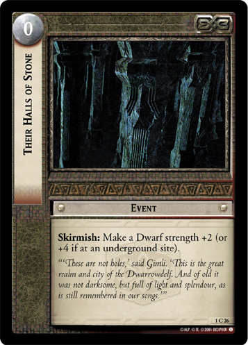 Their Halls of Stone (1C26) Card Image