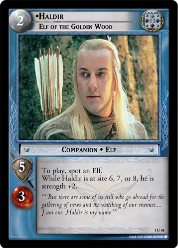 Haldir, Elf of the Golden Wood (1U48) Card Image