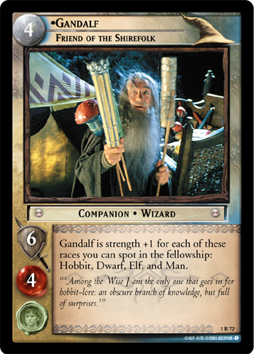 Gandalf, Friend of the Shirefolk (1R72) Card Image