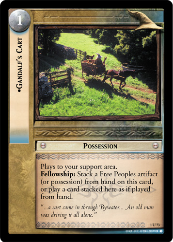 Gandalf's Cart (1U73) Card Image