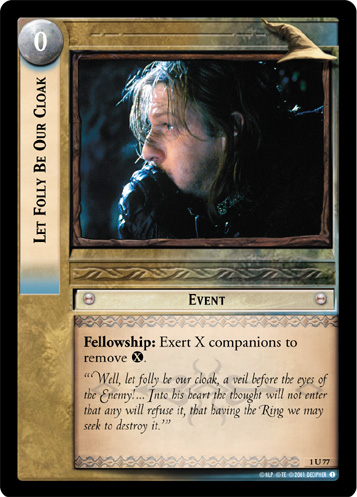 Let Folly Be Our Cloak (1U77) Card Image
