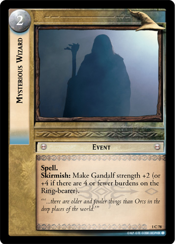 Mysterious Wizard (1C78) Card Image