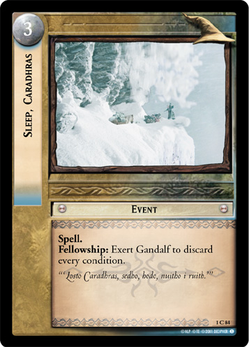 Sleep, Caradhras (1C84) Card Image