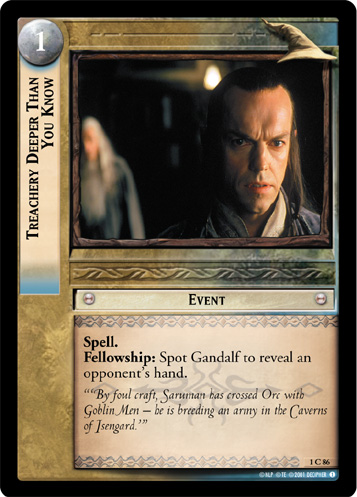 Treachery Deeper Than You Know (1C86) Card Image