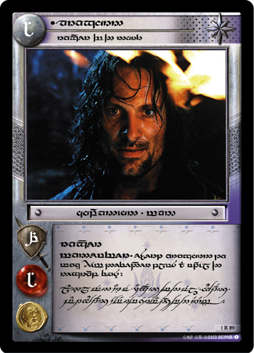 Aragorn, Ranger of the North (T) (1R89T) Card Image