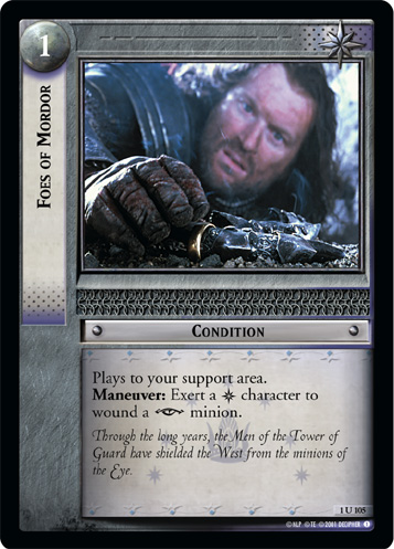 Foes of Mordor (1U105) Card Image