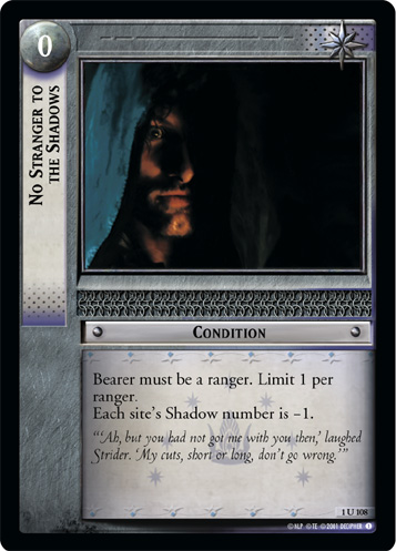 No Stranger to the Shadows (1U108) Card Image