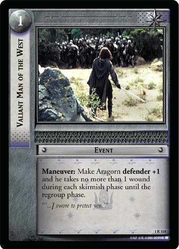 Valiant Man of the West (1R118) Card Image