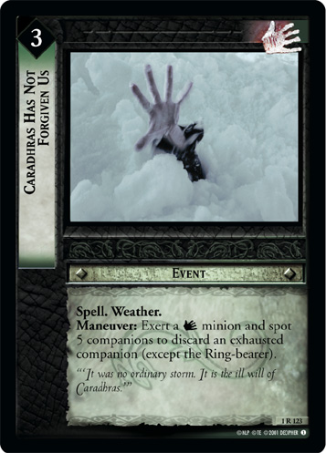Caradhras Has Not Forgiven Us (1R123) Card Image